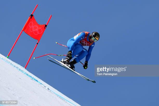 Dominik Paris of Italy makes a run during the Men's Downhill on day six of the PyeongChang 2018 Winter Olympic Games at Jeongseon Alpine Centre on...