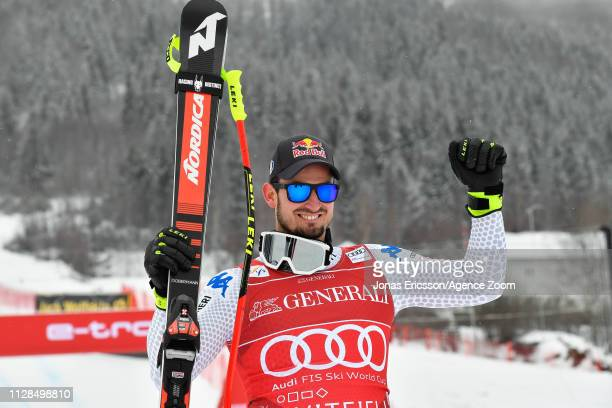 Dominik Paris of Italy takes 1st place during the Audi FIS Alpine Ski World Cup Men's Super G on March 3 2019 in Kvitjell Norway