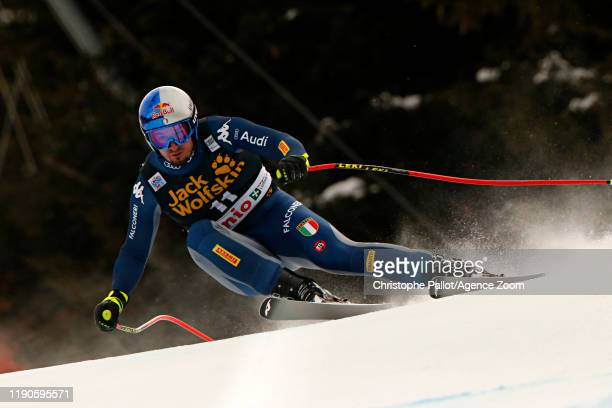 Dominik Paris of Italy takes 1st place during the Audi FIS Alpine Ski World Cup Men's Downhill on December 27 2019 in Bormio Italy