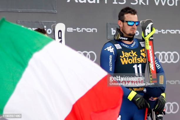 Dominik Paris of Italy takes 1st place during the Audi FIS Alpine Ski World Cup Men's Downhill on December 27, 2019 in Bormio Italy.