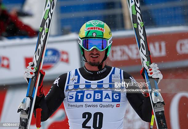Dominik Paris of Italy takes 1st place during the Audi FIS Alpine Ski World Cup Men's Downhill on November 30 2013 in Lake Louise Canada