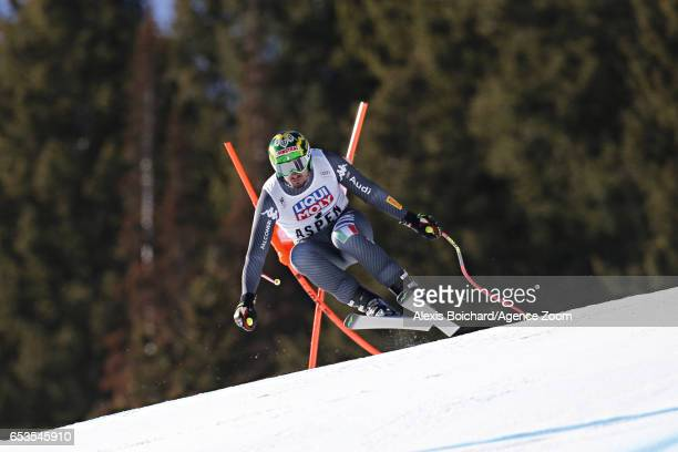 Dominik Paris of Italy takes 1st place during the Audi FIS Alpine Ski World Cup Finals Women's and Men's Downhill on March 15 2017 in Aspen Colorado