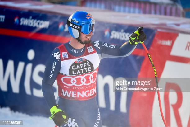 Dominik Paris of Italy takes 2nd place during the Audi FIS Alpine Ski World Cup Men's Downhill on January 18 2020 in Wengen Switzerland