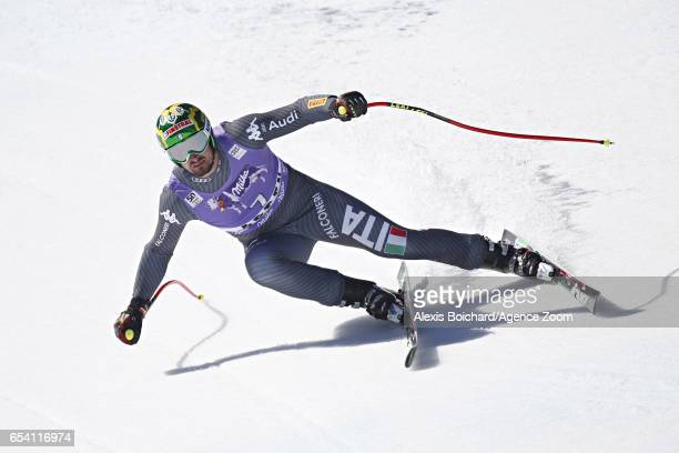 Dominik Paris of Italy takes 2nd place during the Audi FIS Alpine Ski World Cup Finals Women's and Men's SuperG on March 16 2017 in Aspen Colorado