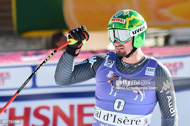 Dominik Paris of Italy takes 3rd place during the Audi FIS Alpine Ski World Cup Men's SuperG on December 2 2016 in Val d'Isere France
