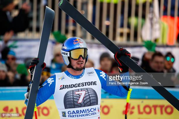 Dominik Paris of Italy takes 3rd place during the Audi FIS Alpine Ski World Cup Men's Downhill on January 27 2018 in GarmischPartenkirchen Germany