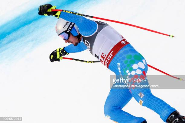 Dominik Paris of Italy wins the gold medal during the FIS World Ski Championships Men's Super G on February 6, 2019 in Are Sweden.