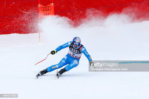Dominik Paris of Italy wins the gold medal during the FIS World Ski Championships Men's Super G on February 6 2019 in Are Sweden