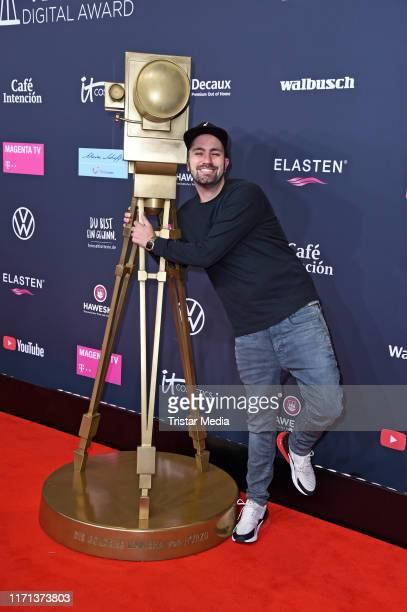 Dominik Porschen attends the YouTube Goldene Kamera Digital Awards at Kraftwerk on September 26 2019 in Berlin Germany