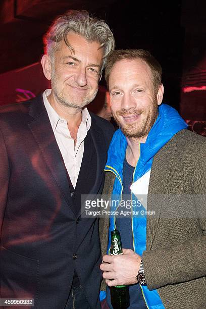 Dominik Raacke and Johann von Buelow attends the Medienboard PreChristmas Party 2014 at Kraftwerk on December 4 2014 in Berlin Germany