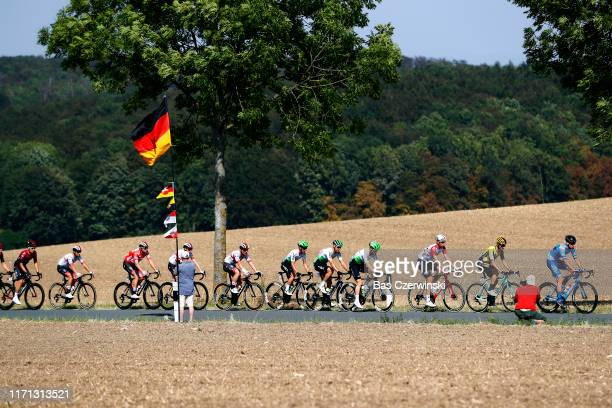 Dominik Rîber of Germany and Team P&S Metalltechnik / Paul Martens of Germany and Team Jumbo - Visma / Andreas Schillinger of Germany and Team...