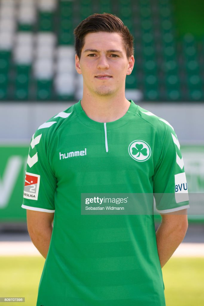 Dominik Schad of SpVgg Greuther Fuerth poses during the team presentation at Sportpark Ronhof on July 6, 2017 in Fuerth, Germany.