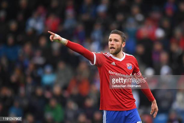 Dominik Stahlof Unterhaching gestures during the 3. Liga match between SpVgg Unterhaching and TSV 1860 Muenchen at Alpenbauer Sportpark on December...
