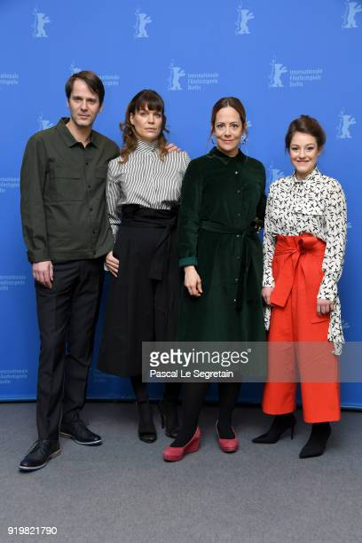 Dominik Warta Kathrin Resetarits Katharina Mueckstein and Sophie Stockinger pose at the 'L'Animale' photo call during the 68th Berlinale...