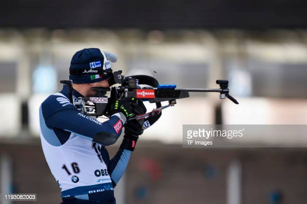Dominik Windisch of Italy at the shooting range during the Men 10 km Sprint Competition at the BMW IBU World Cup Biathlon Oberhof on January 10 2020...