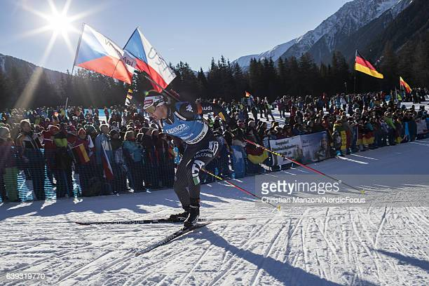 Dominik Windisch of Italy competes during the 20 km men's Individual on January 20 2017 in AntholzAnterselva Italy