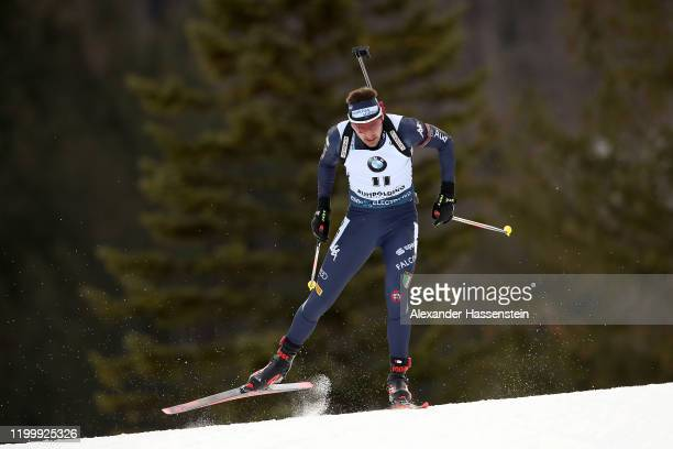 Dominik Windisch of Italy competes during the Men 10 km Sprint Competition at the BMW IBU World Cup Biathlon Ruhpolding on January 16 2020 in...