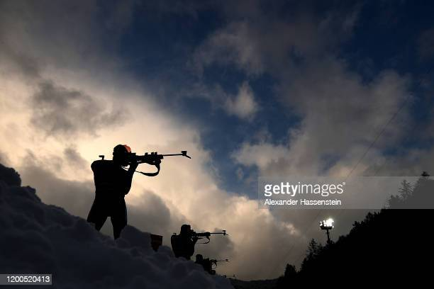 Dominik Windisch of Italy competes during the Men 125 km Pursuit Competition at the BMW IBU World Cup Biathlon Ruhpolding on January 19 2020 in...