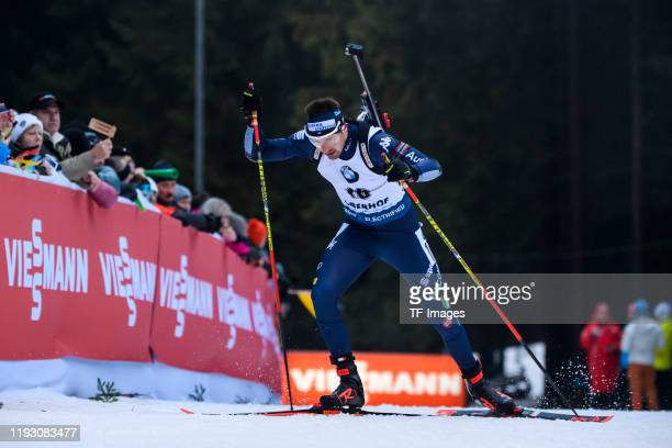 Dominik Windisch of Italy in action competes during the Men 10 km Sprint Competition at the BMW IBU World Cup Biathlon Oberhof on January 10 2020 in...