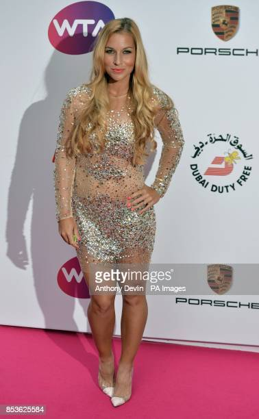 Dominika Cibulkova attending the WTA PreWimbledon Party at The Roof Gardens Kensington London
