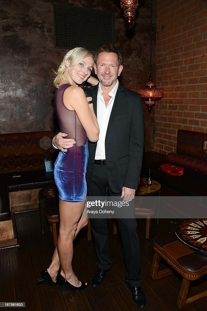 Dominika Wolski and Greg Mielcarz attend the Emmett/Furla/Oasis Films hosts celebration for the upcoming production of 'Tupac' at Zanzibar on November 7, 2013 in Santa Monica, California.