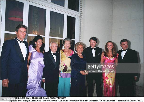 Domininque Desseigne 'Mouna Ayoub' Baron 'Guy De Rothschild' countess 'Guy De Brantes' 'Bernadette Chirac' Mr and Mrs 'Augier' Deauville mayor...