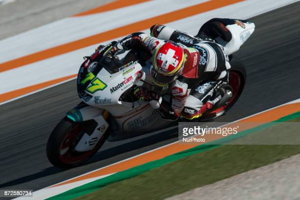 Dominique Aegerter Kiefer Racing Suter during free practice at the Gran Premio Motul de la Comunitat Valenciana Circuit of Ricardo TormoValencia...