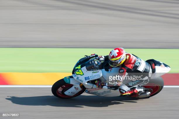 Dominique Aegerter Kiefer Racing Suter in the free practice of the Gran Premio Movistar de Aragon Circuit of Motorland Alcañiz Spain Saturday 23rd...