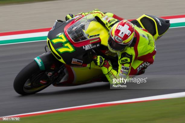 Dominique Aegerter of Kiefer Racingof Moto 2 during the Free Practice 1 of the Oakley Grand Prix of Italy at International Circuit of Mugello on June...