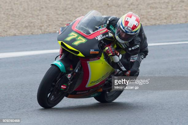 Dominique Aegerter of Swiss and Kiefer Racing rounds the bend during the Moto2 Moto3 Tests In Jerez at Circuito de Jerez on March 8 2018 in Jerez de...