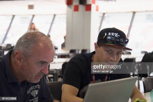Dominique Aegerter of Swiss and Kiefer Racing smiles in media center during the MotoGp of Catalunya Previews at Circuit de Catalunya on June 14 2018...