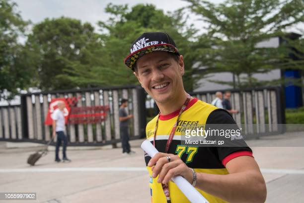 Dominique Aegerter of Switzerland and Kiefer Racing in the paddock during the MotoGP Of Malaysia Previews at Sepang Circuit on November 1 2018 in...