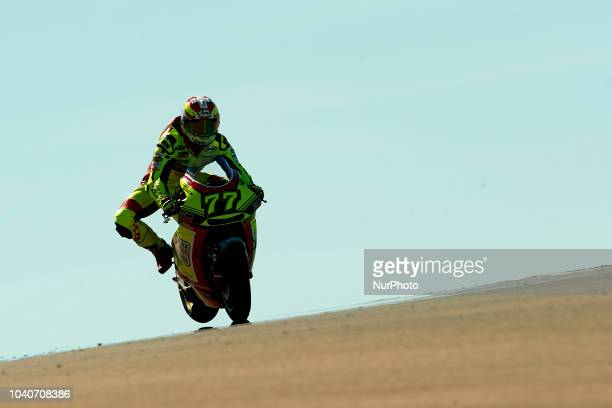 Dominique Aegerter of Switzerland and Kiefer Racing KTM during race day of the Gran Premio Movistar de Aragon of world championship of MotoGP at...