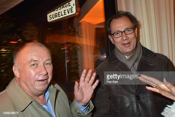 Dominique Alderweireld and Jean Rene Van Der Plaetsenattend the 'Prix De Flore 2012' Literary Award Ceremony Party at the Cafe de Flore on November 8...