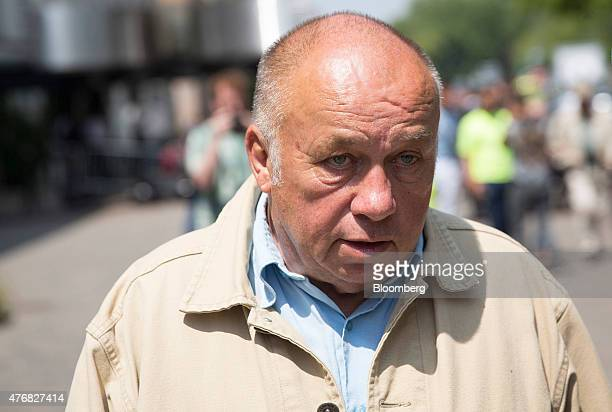 Dominique Alderweireld who runs a chain of massage parlors and is also known as Dodo La Saumure leaves the courthouse in Lille France on Friday June...