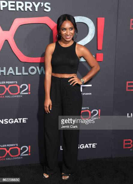 Dominique Alexis attends the premiere of Lionsgate's 'Tyler Perry's Boo 2 A Madea Halloween' at Regal LA Live Stadium 14 on October 16 2017 in Los...