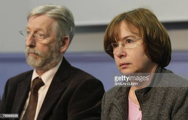 Dominique and JeanFrancois Delagrange the parents of murdered French student Amelie Delagrange are pictured at a press conference in London on...
