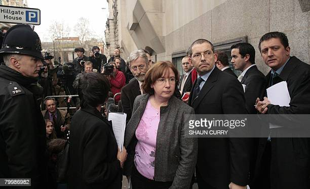 Dominique and JeanFrancois the parents of murdered French student Amelie Delagrange leave the Central Criminal Court in London on February 25 2008...