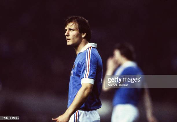 Dominique Bathenay of France during the International Friendly match between France and Peru at Parc des Princes in Paris on April 28th 1982