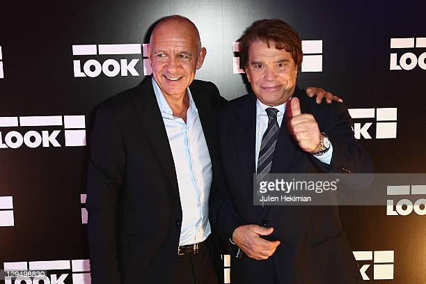 Dominique Bergin and Bernard Tapie attend the 'Look' Boutique Opening on October 17 2011 in Paris France