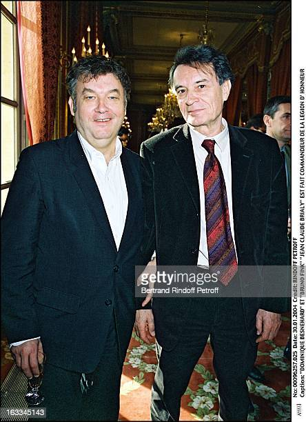 """Dominique Besnehard and """"Bruno Fink"""" """"Jean Claude Brialy"""" is made commander of the Legion of Honor."""