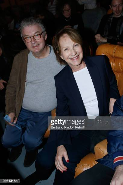 Dominique Besnehard and Nathalie Baye attend Sylvie Vartan performs at Le Grand Rex on April 14 2018 in Paris France