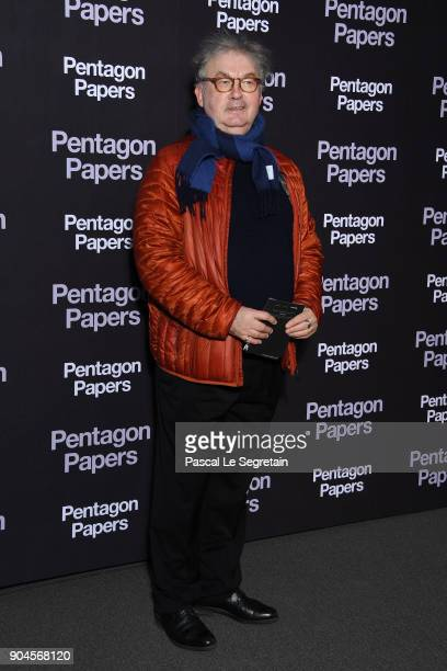 Dominique Besnehard attends 'Pentagon Papers' Premiere at Cinema UGC Normandie on January 13 2018 in Paris France