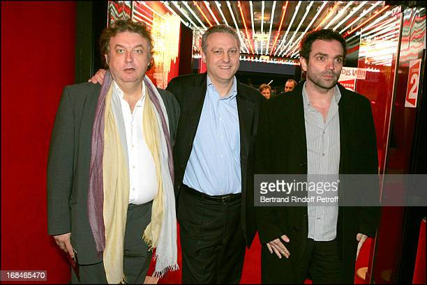 Dominique Besnehard Yves Bigot and Yann Moix at Dalida TV Film Tribute To The Singer