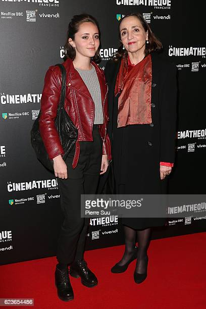 Dominique Blanc and and her daughter Eve attend the Patrice Chereau Retrospective at Cinematheque Francaise on November 16 2016 in Paris France