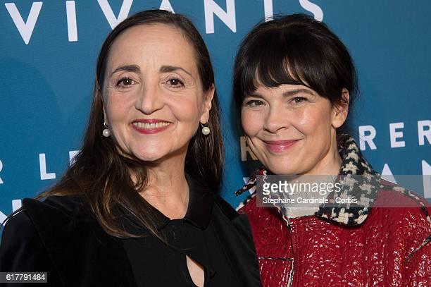 Dominique Blanc and Anne Dorval attend the 'Reparer Les Vivants' Paris Premiere on October 24 2016 in Paris France