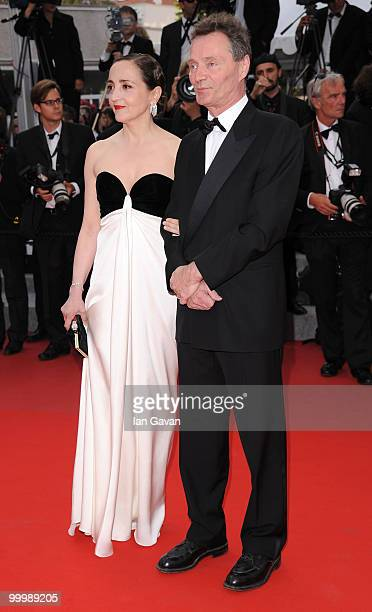 Dominique Blanc and guest attend the 'Poetry' Premiere at the Palais des Festivals during the 63rd Annual Cannes Film Festival on May 19 2010 in...
