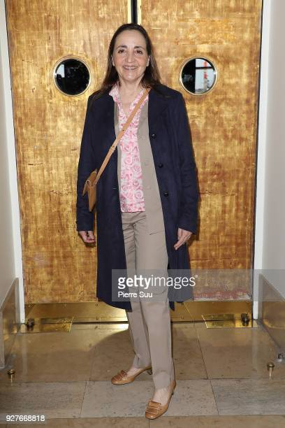 Dominique Blanc attends the Agnes B show as part of the Paris Fashion Week Womenswear Fall/Winter 2018/2019 on March 5 2018 in Paris France