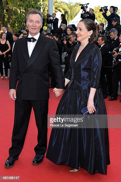 Dominique Blanc attends the 'Two Days One Night' premiere during the 67th Annual Cannes Film Festival on May 20 2014 in Cannes France