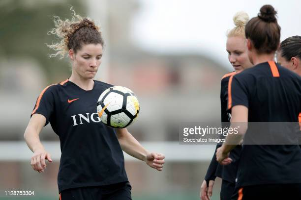 Dominique Bloodworth of Holland Women, Danique Kerkdijk of Holland Women during the Training Holland Women at the Cascade Resort on March 5, 2019 in...
